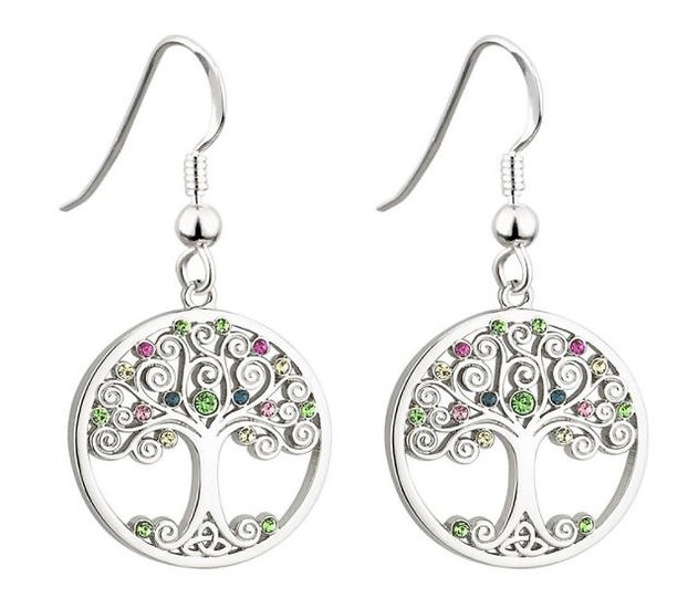 Tree of Life Color Crystals Earrings
