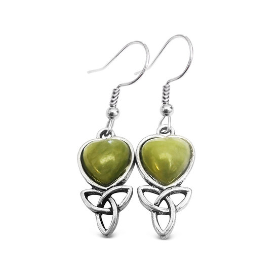 Connemara Heart Trinity Earrings
