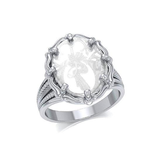 Veiled Symbols in Quartz Ring
