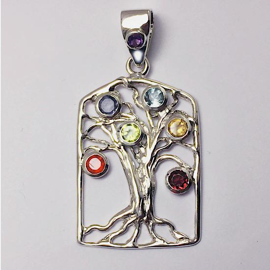 Chakra Desire Tree of Life Necklace