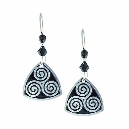 Triskele, Black Earrings