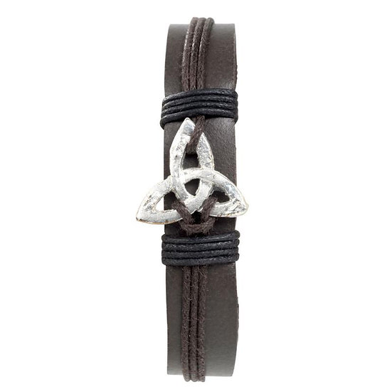 Trinity Knot Leather Bracelet
