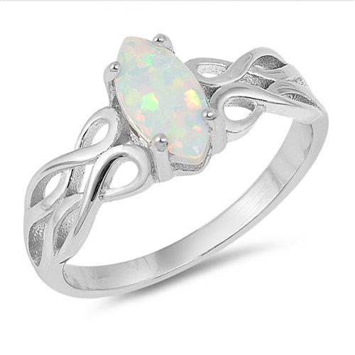 Knot Ring with Opal