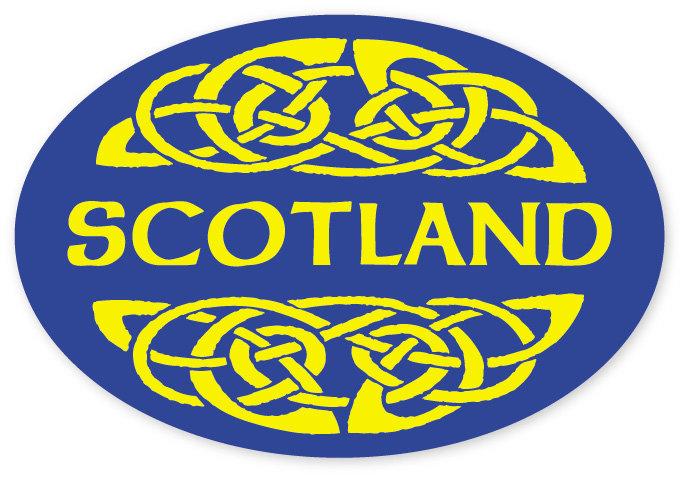 Scotland Blue Yellow Knot Sticker