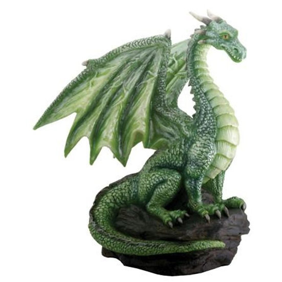Green Dragon on Rock