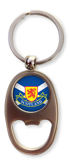 Scotland Oblong Bottle Opener Keyring