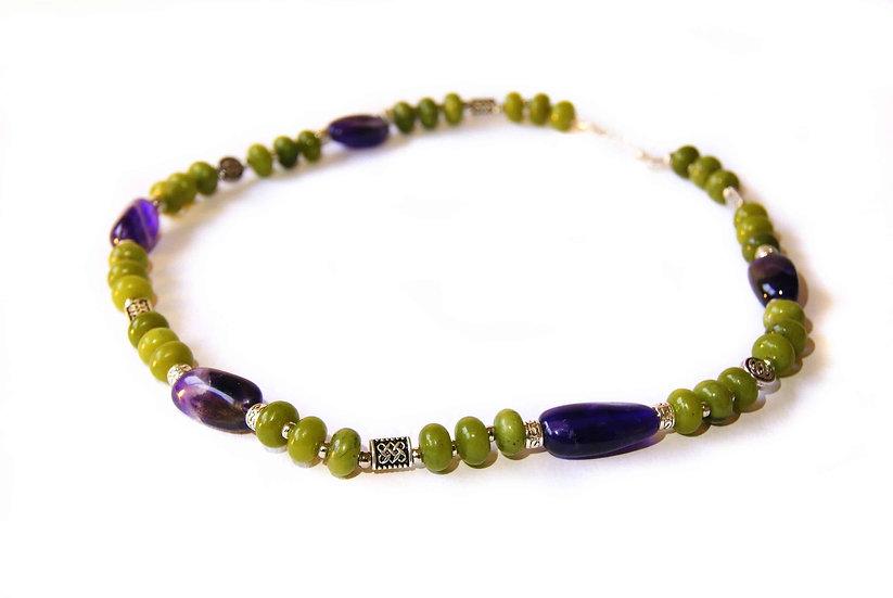 Connemara and Amethyst Necklace
