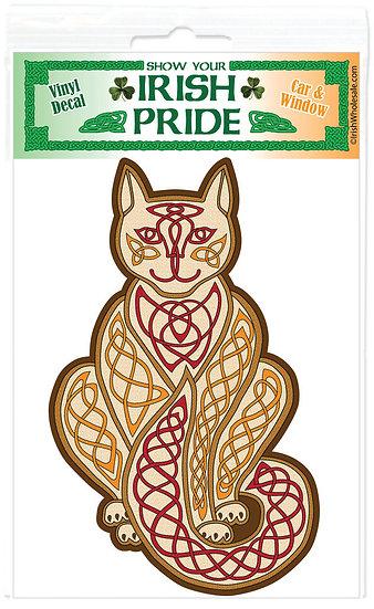 Knotwork Kitty Sticker