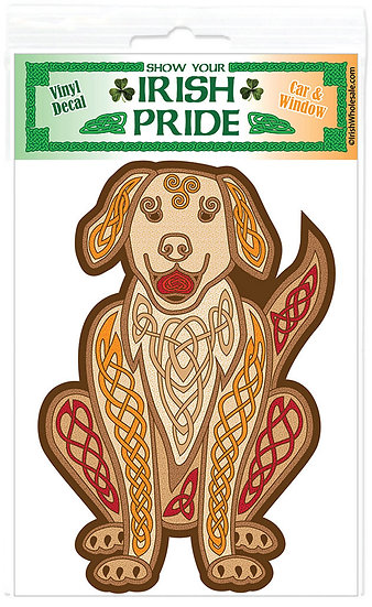 Knotwork Dog Sticker