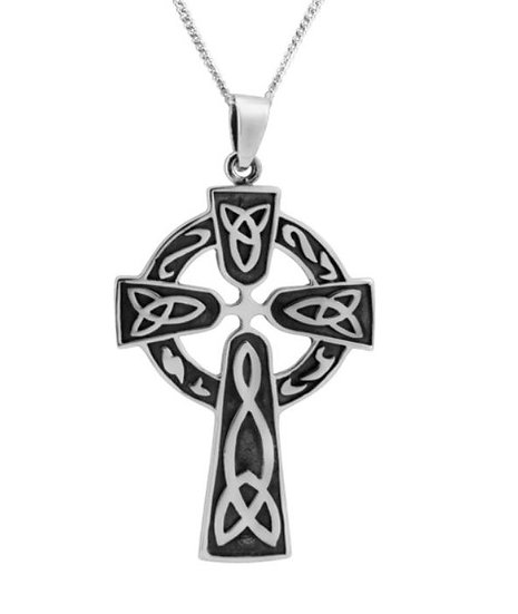 Silver Plated Celtic Cross Necklace