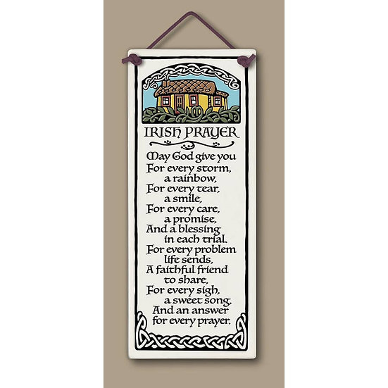 Irish Prayer Plaque