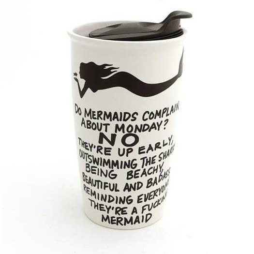 Travel Mug: Mermaid Complaining
