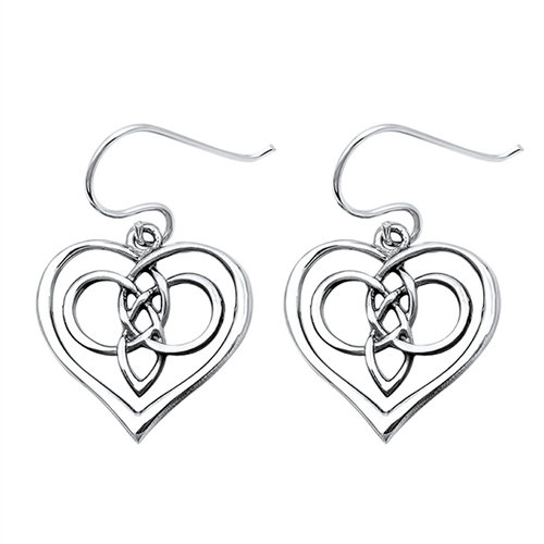 Knotted Celtic Heart Earrings