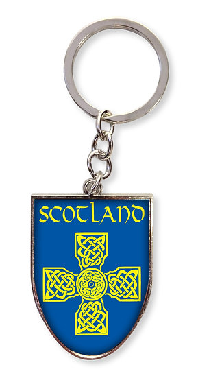 Scotland Celt Cross Shield Keyring