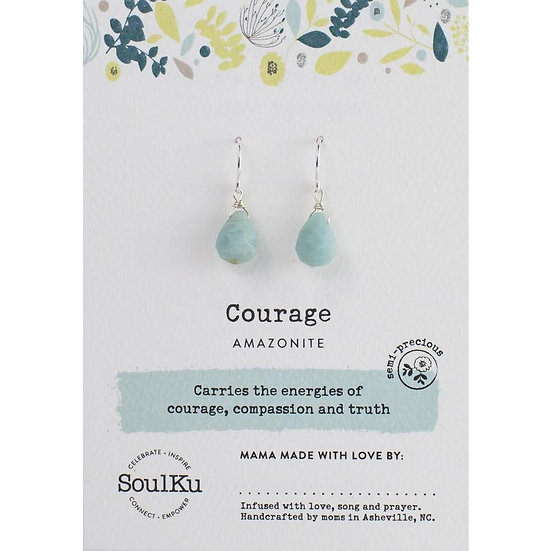 Short Drop Semi-precious gemstone Desire Earrings