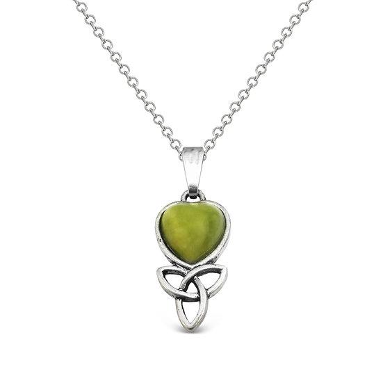 Connemara Heart Trinity Necklace