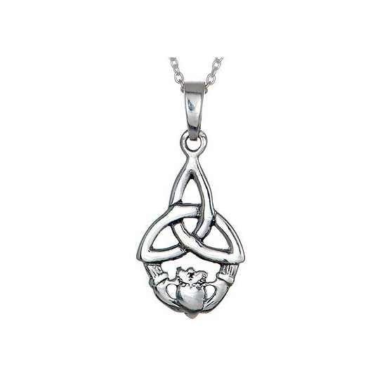 Trinity with Claddagh Necklace