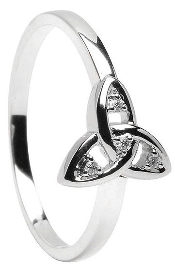 White Gold Diamond Trinity Ring