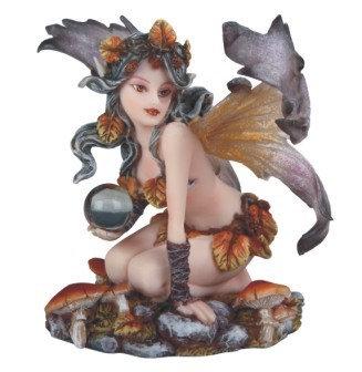 Autumn Fairy with Crystal