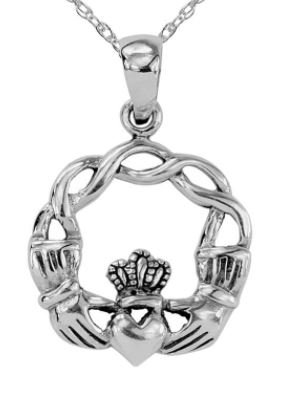 Knotted Claddagh Necklace