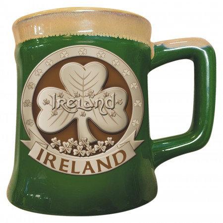 Ireland Shamrock Pottery Mug
