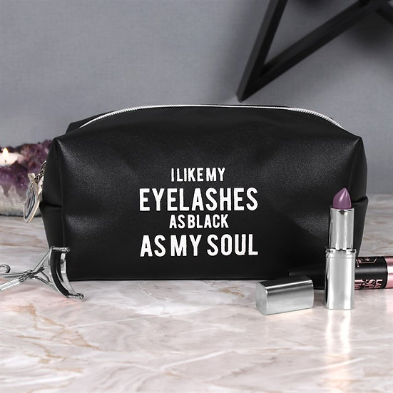 Makeup Bag Eyelashes Black