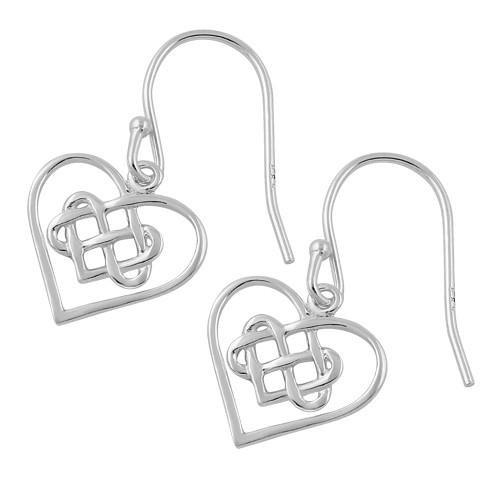 Triple Love Knot Heart Earrings