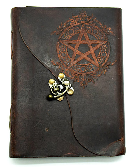 Soft Leather Pentacle Journal