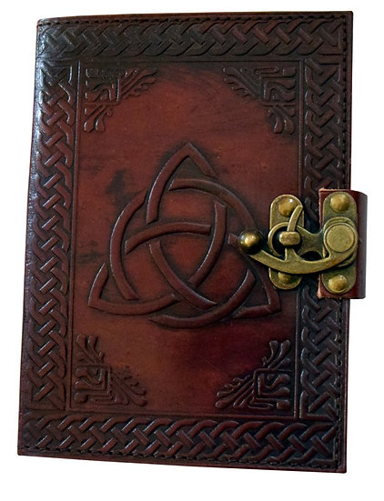 Leather Trinity Journal with Lock