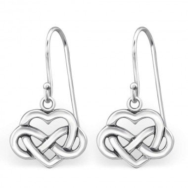 Infinity Love Knot Dangle Earrings