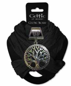 Scarf Black Tree of Life Slide