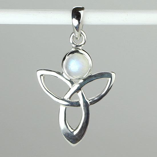 Moonstone Angel Trinity Necklace