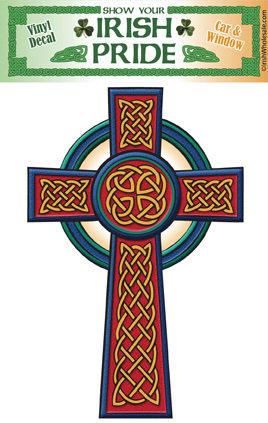 Celtic Cross Trad Sticker