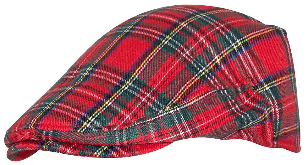 Red Plaid Golf Hat