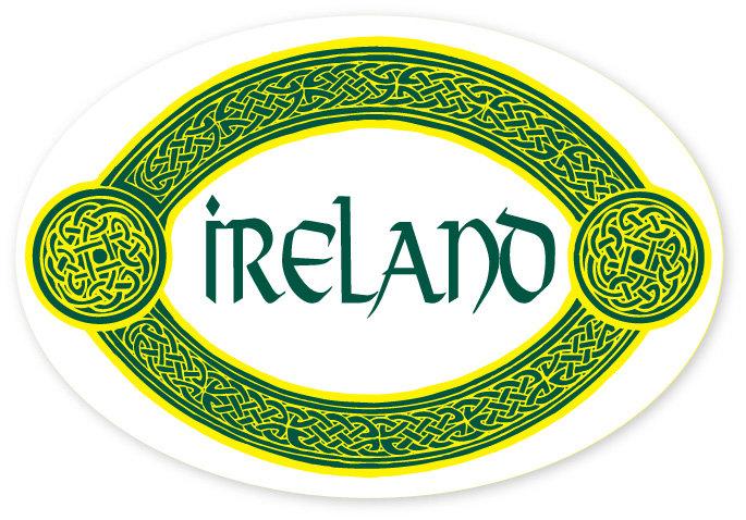 Ireland Oval Knot Sticker