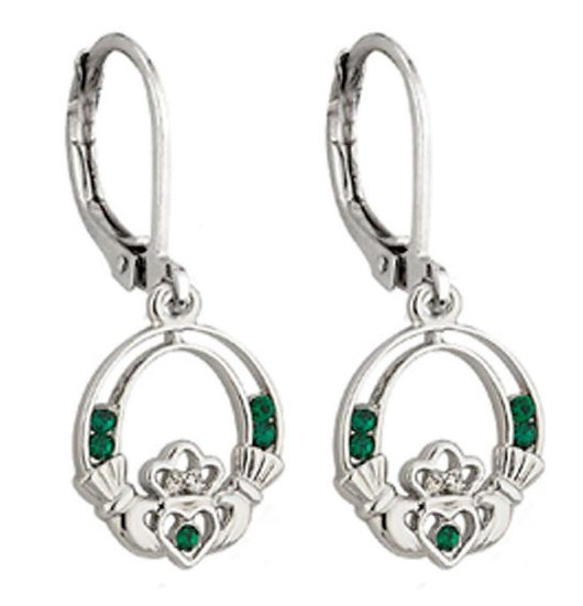 Claddagh Crystal Drop Earrings