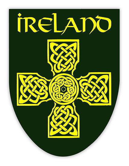 Ireland Black and Gold Cross Sticker