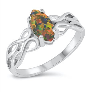 Fire Opal Knot Ring