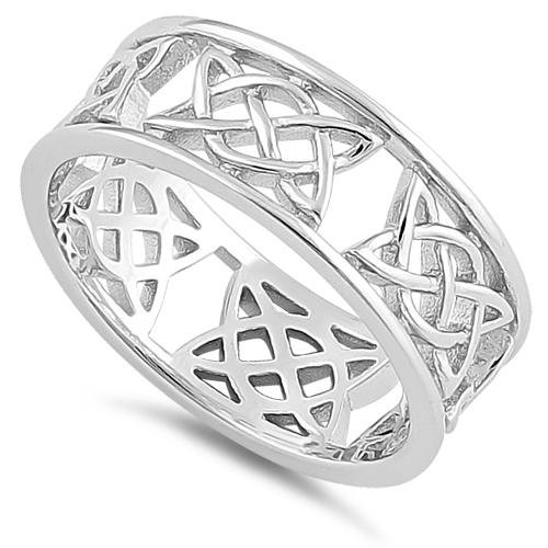 Love Knot Band with Border Ring