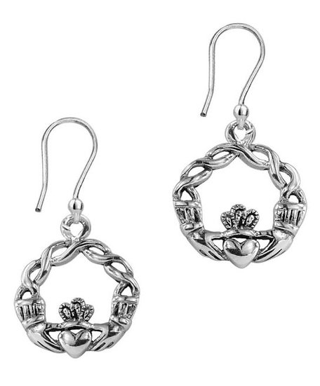 Knotted Claddagh Earrings
