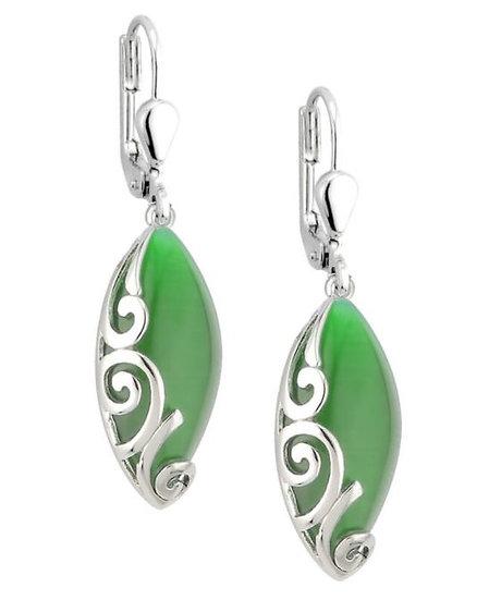 Cat Eye Celtic Earrings