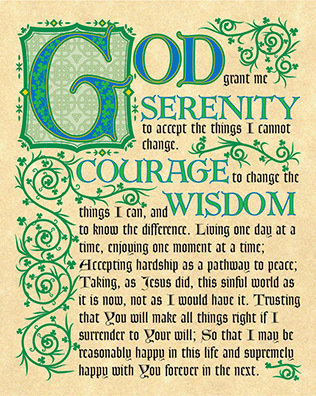 Serenity Prayer Print