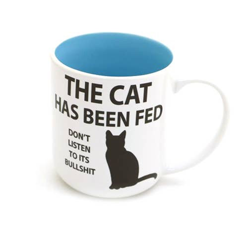 Cat has been fed Mug