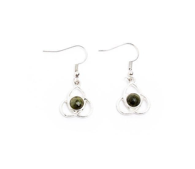 Connemara Trinity Cabachon Earrings