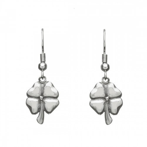 Pewter Clover Earrings