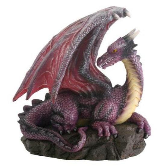 Purple Dragon on Rock