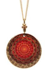 Sun Earth Mandala Necklace