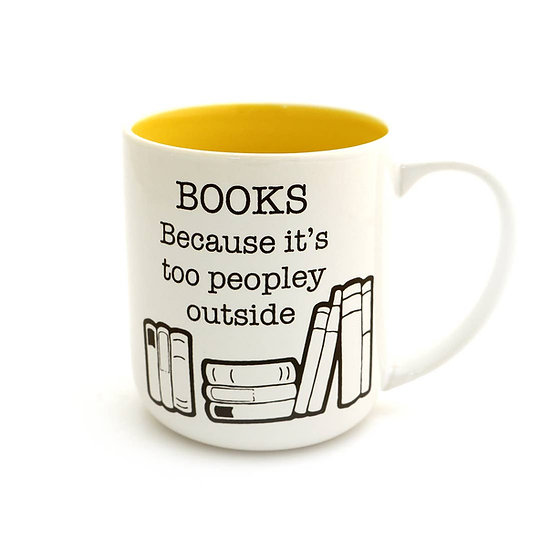 Books too Peopley Mug