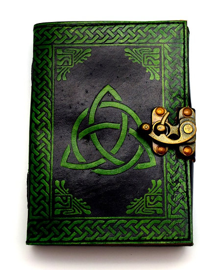 Leather Journal Green Trinity