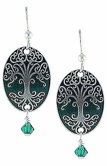 Pine Green Tree Earrings